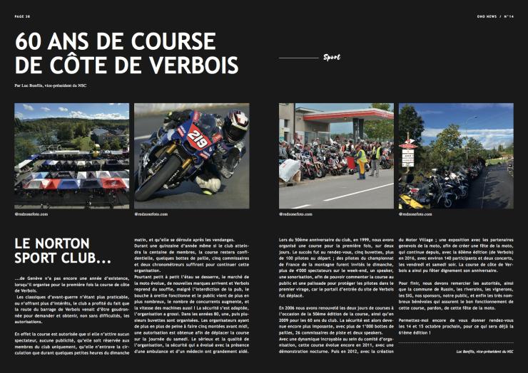 Article course verbois