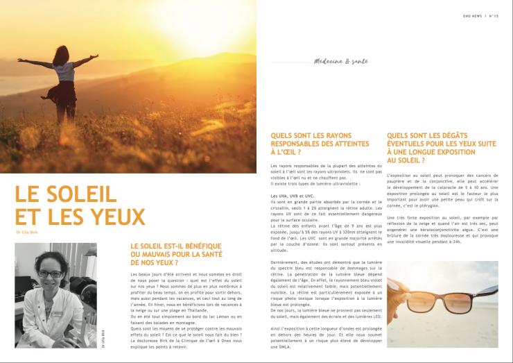 Article Yeux & Soleil